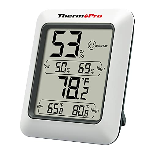 ThermoPro TP50 Digital Hygrometer Indoor Thermometer Room Thermometer and...