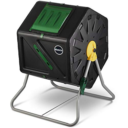 Miracle-Gro Small Composter - Compact Single Chamber Outdoor Garden Compost...