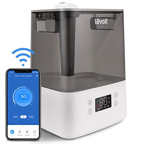 LEVOIT Humidifiers for Bedroom Home Large Room, 6L Smart WiFi Top Fill Cool...