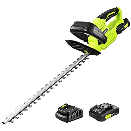 """Cordless Hedge Trimmer, SnapFresh 1400RPM Hedge Trimmer with 22""""..."""
