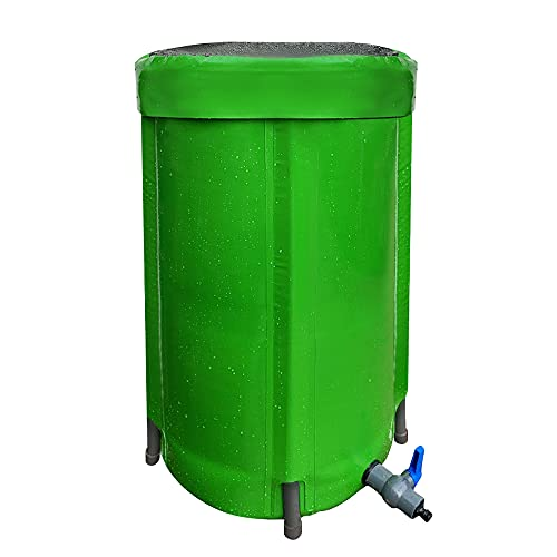100L Upgraded Rain Barrels to Collect Rainwater,Collapsable Rain Water...