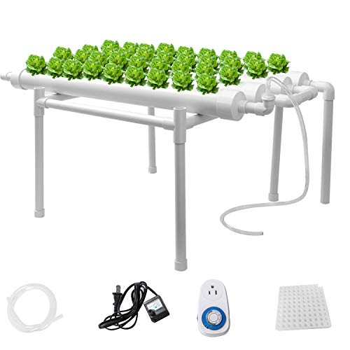 Sidasu Hydroponic Grow Kit 36 Sites 4 Pipes Hydroponic Growing System with...