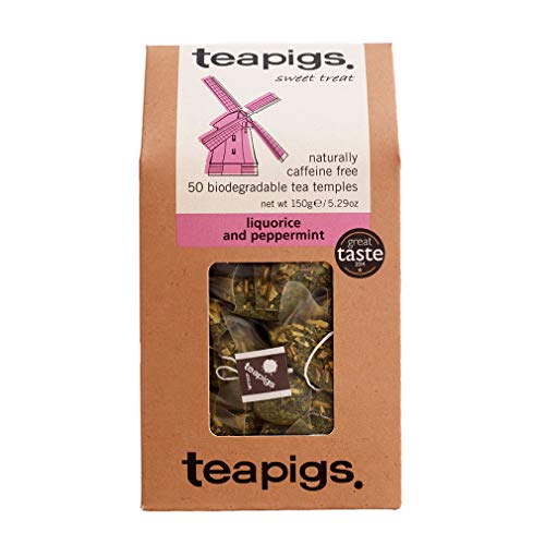 teapigs Liquorice and Peppermint Tea Bags Made With Whole Leaves, 50 Count,...