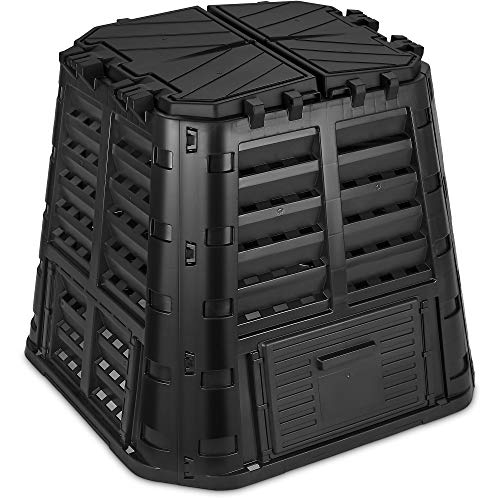 Garden Composter Bin Made from Recycled Plastic – 110 Gallons (420Liter)...