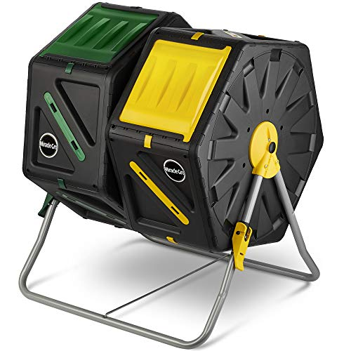 Dual Chamber Compost Tumbler – Easy-Turn, Fast-Working System –...