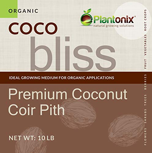 Coco Bliss Premium Coconut Coir Pith 40 lbs Brick/Block, OMRI Listed for...