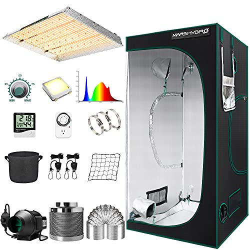 MARS HYDRO Grow Tent Kit Complete 4x4ft TSW 2000W Led Grow Light Dimmable...