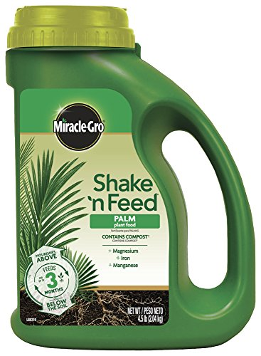 Miracle-Gro Shake 'N Feed Palm Plant Food, 4.5 lb., Feeds up to 3 Months