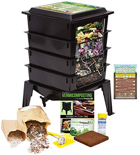 Worm Factory 360 Worm Composting Bin + Bonus What Can Red Wigglers Eat?...